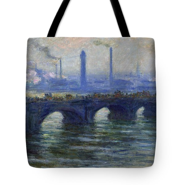 Waterloo Bridge, London, 1900 Tote Bag
