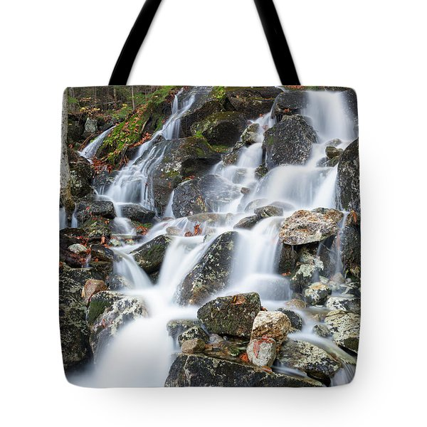 Waternomee Brook Cascades - White Mountains, New Hampshire Tote Bag