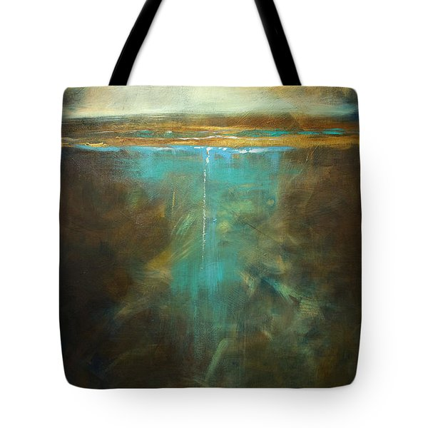Tote Bag featuring the painting Water's Edge In The Moonlight by Linda Olsen