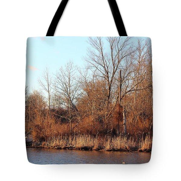 Northeast River Banks Tote Bag