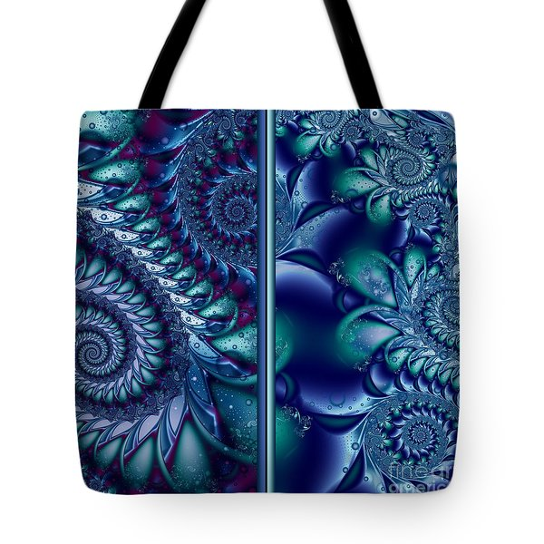 Tote Bag featuring the digital art Waters Of The Caribbean by Michelle H