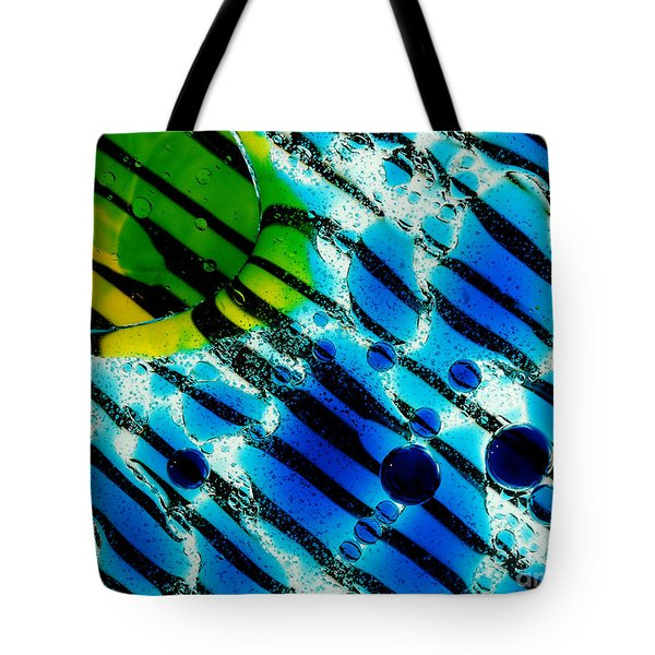 Waterscape Crystal Blue And Yellow Tote Bag