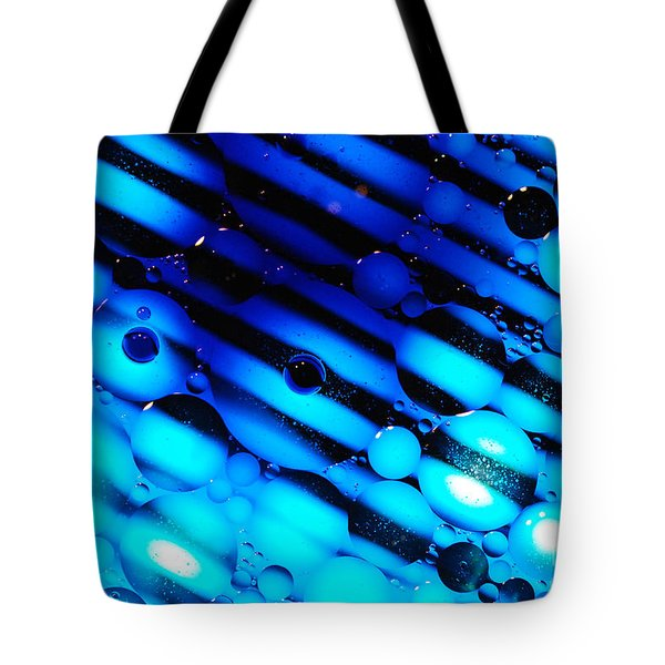Waterscape Crystal Blue Pattern Tote Bag