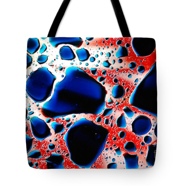 Waterscape Red And Blue Sunburst  Tote Bag
