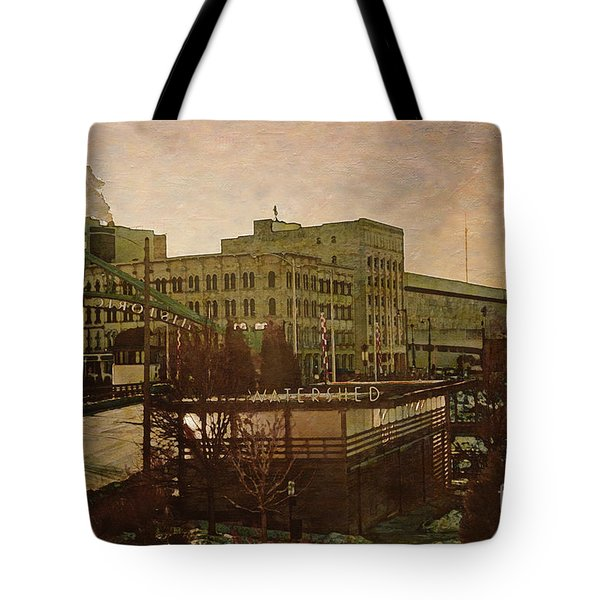 Tote Bag featuring the digital art Watershed by David Blank