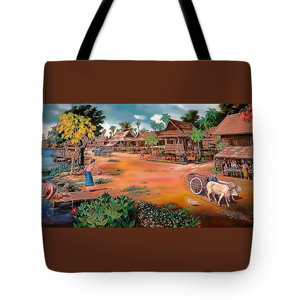 Waterside Town Community Tote Bag by Ian Gledhill