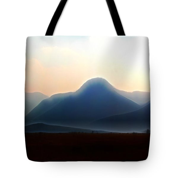 Waterton - Mountain Panorama Tote Bag by Stuart Turnbull