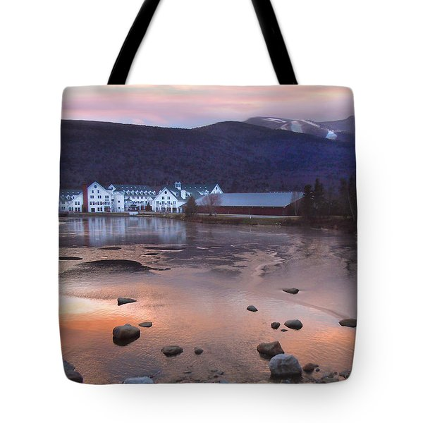 Waterville Valley Sunset Tote Bag by Nancy Griswold