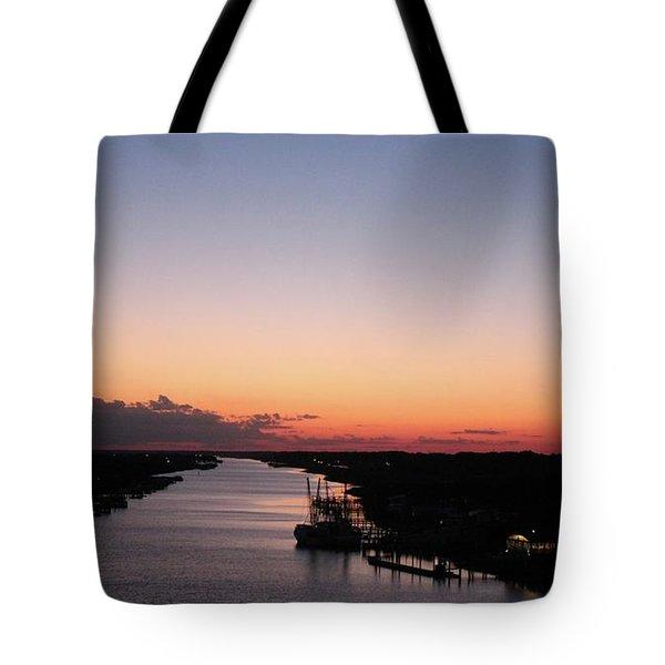 Waterway Sunset #1 Tote Bag
