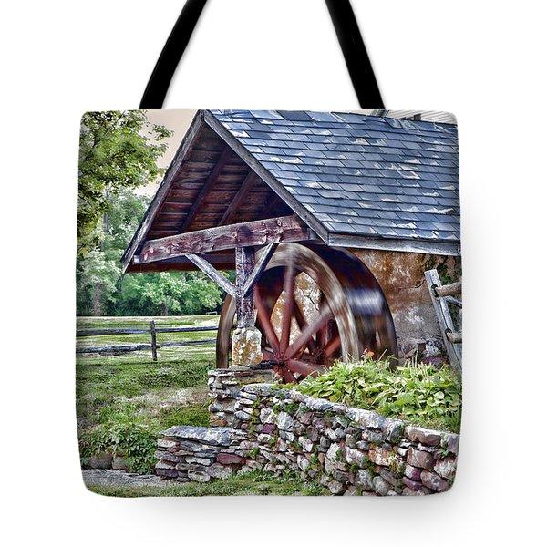 Waterwheel Tote Bag by Nicki McManus