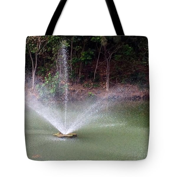 Tote Bag featuring the photograph Waterworks  by Alohi Fujimoto