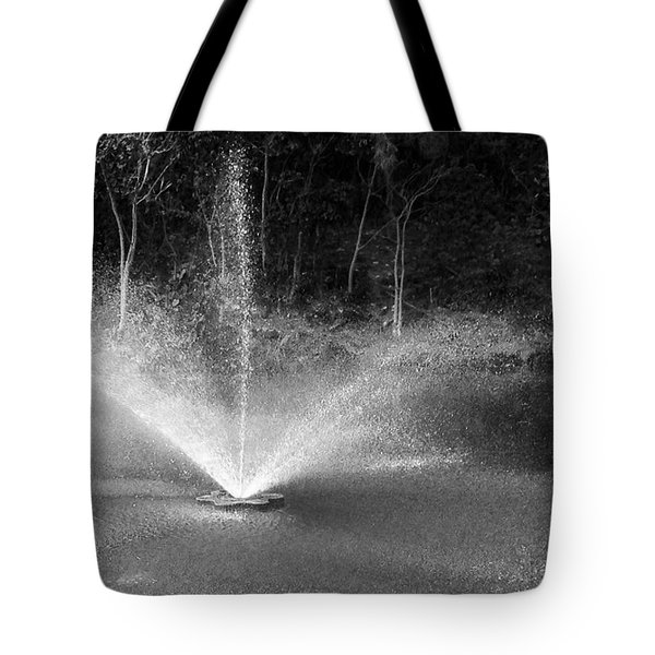 Tote Bag featuring the photograph Waterworks- Black And White by Alohi Fujimoto