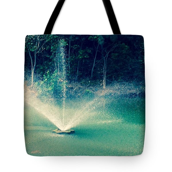 Tote Bag featuring the photograph Waterworks- Edit by Alohi Fujimoto