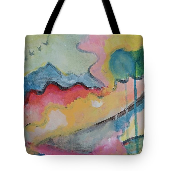 Tote Bag featuring the digital art Watery Abstract by Susan Stone