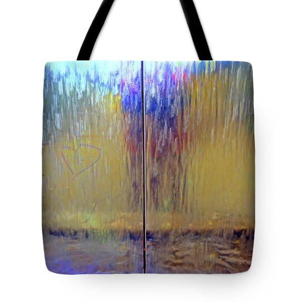 Tote Bag featuring the photograph Watery Rainbow Abstract by Nareeta Martin