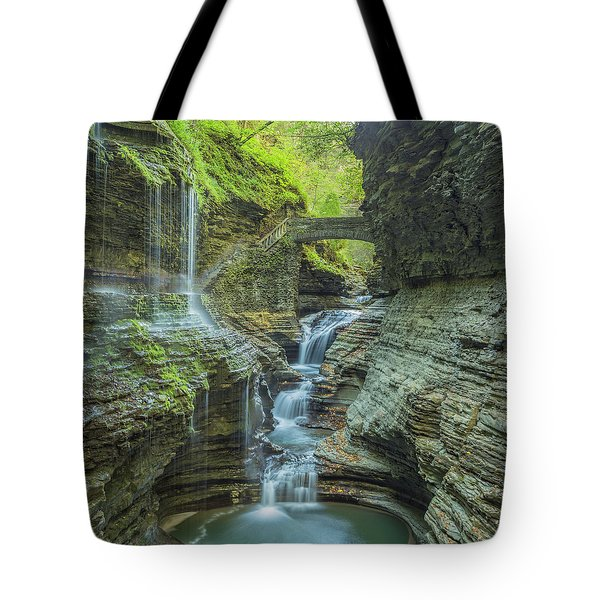 Tote Bag featuring the photograph Watkins Glen 07 Panorama by Jim Dollar