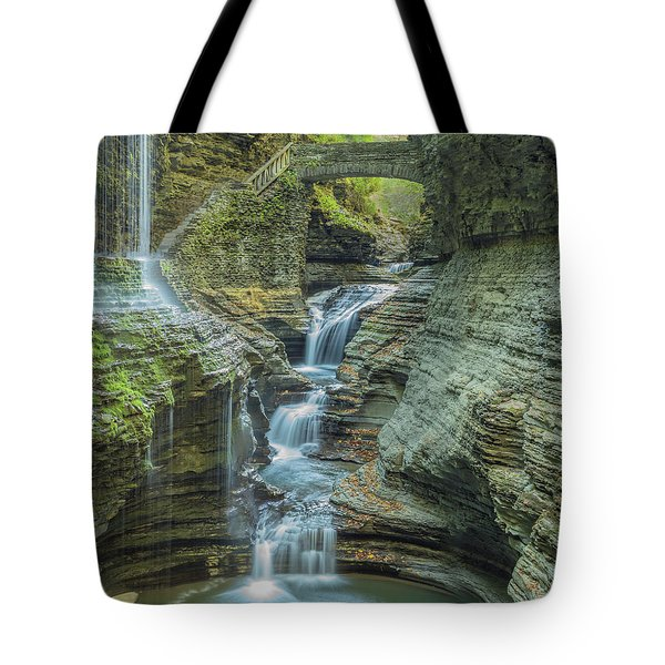 Tote Bag featuring the photograph Watkins Glen 08 Panorama by Jim Dollar