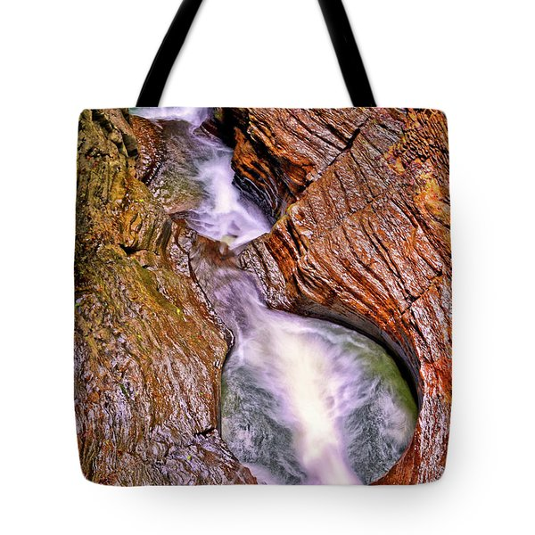 Watkins Glen - Rainbow Falls 005 Tote Bag
