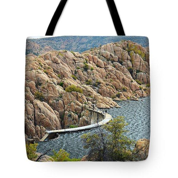 Watson Lake Dam Tote Bag