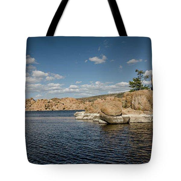 Watson Lake Panorama Tote Bag