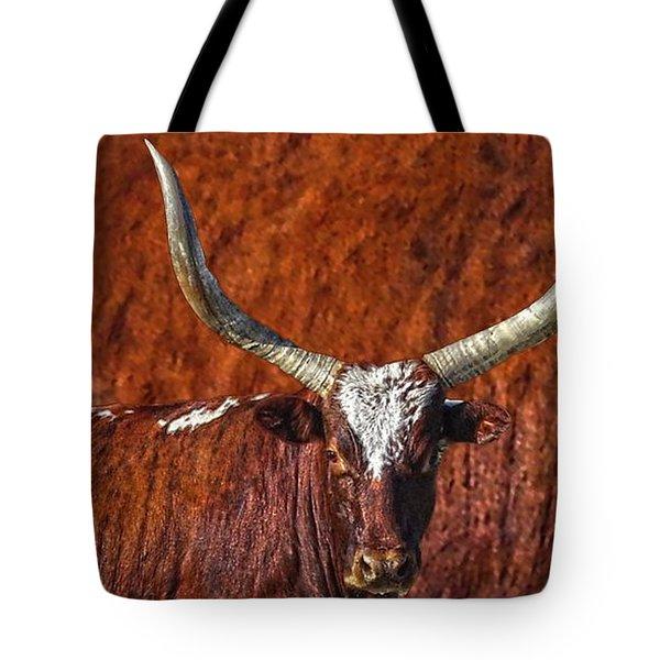 Watusi Blues In Rustic Red Tote Bag