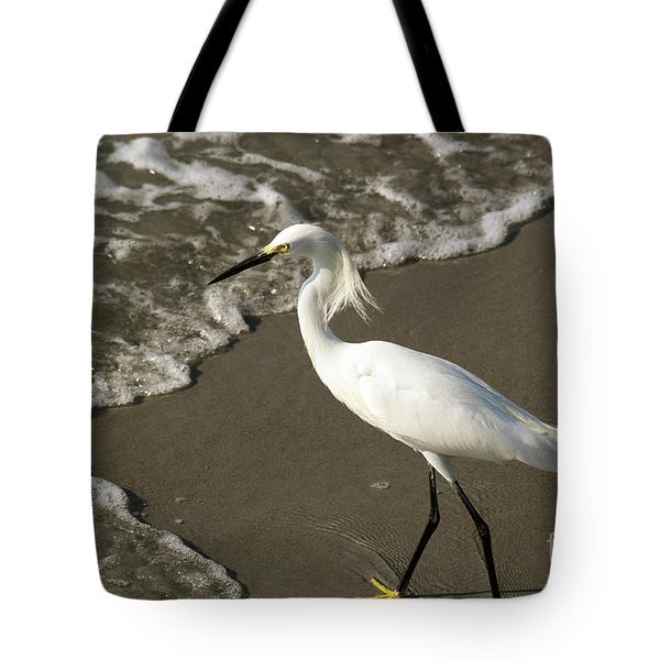 Wave And Snowy Tote Bag
