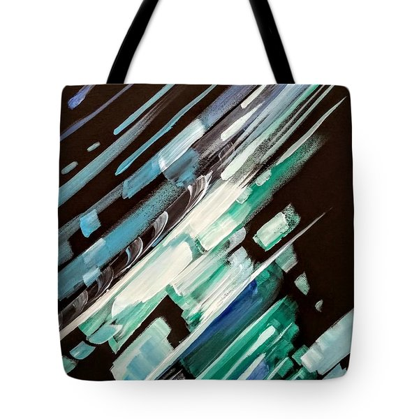Tote Bag featuring the painting Wave Crash by Jennifer Hotai