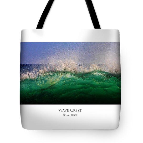 Wave Crest Tote Bag