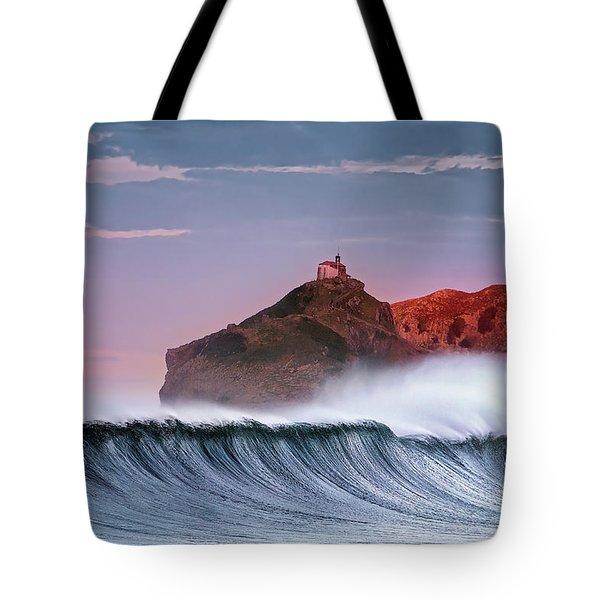 Wave In Bakio Tote Bag