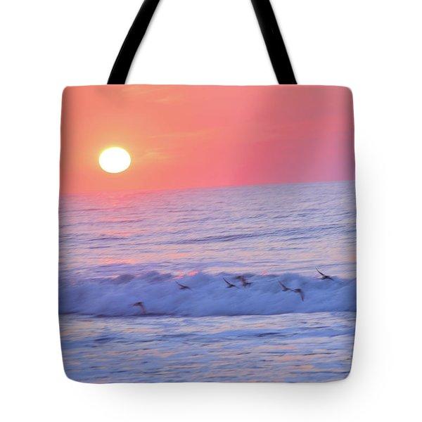 Wave Of Gratitude Nature Art Tote Bag
