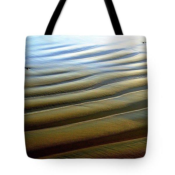 Wave Patterns At Drake's Beach, Point Reyes National Seashore Tote Bag