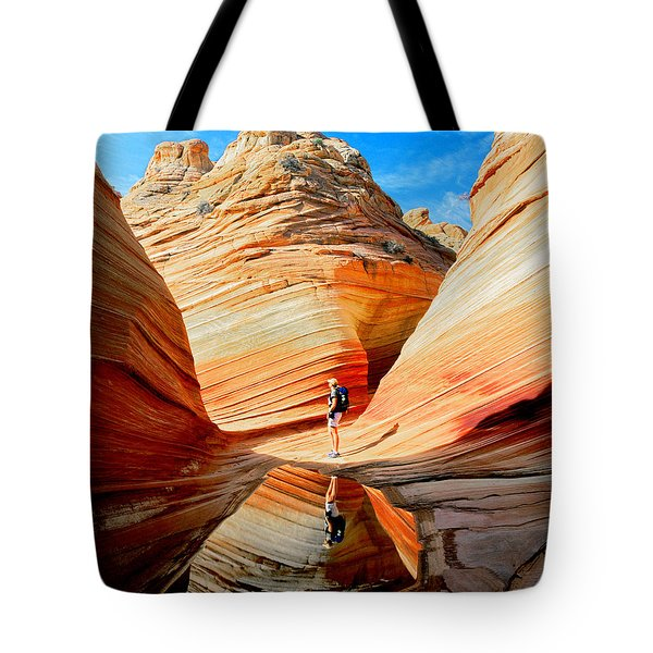 Wave Reflection Tote Bag