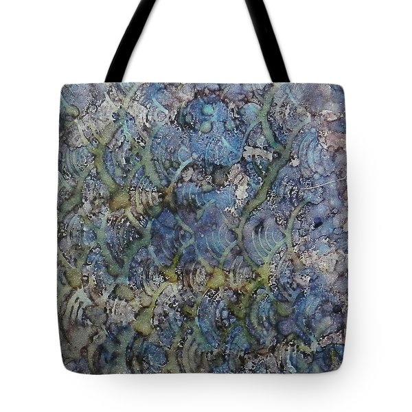 Tote Bag featuring the painting Wave Shadows Ink #7 by Sarajane Helm