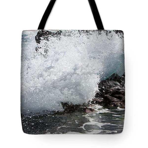 Wave Smash Tote Bag by Nicholas Burningham