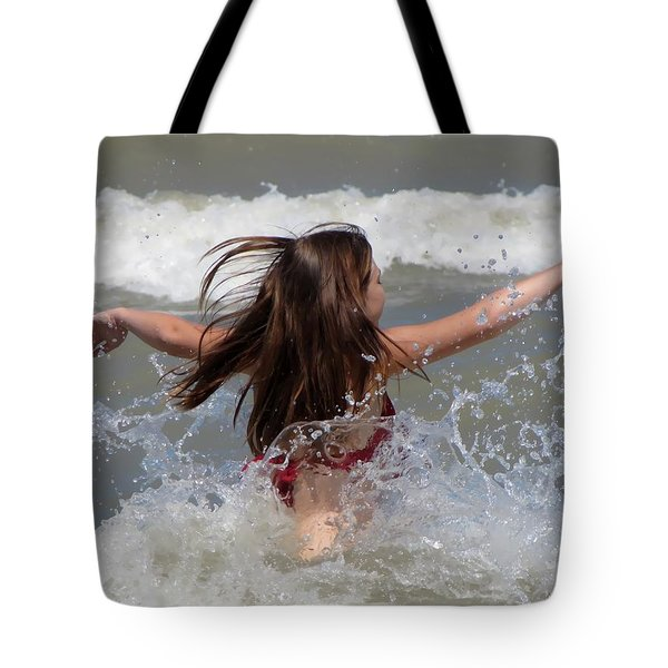 Wave Splash Tote Bag