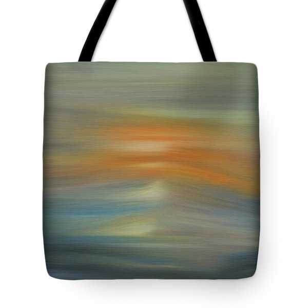 Wave Swept Sunset Tote Bag by Dan Sproul