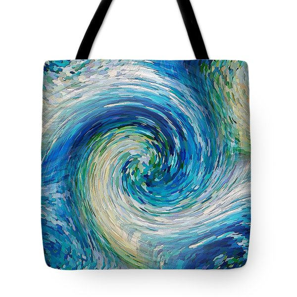Tote Bag featuring the digital art Wave To Van Gogh II by David Manlove