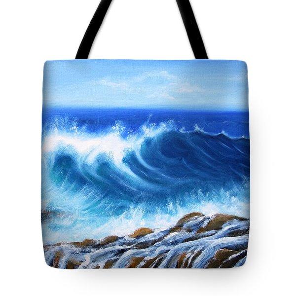 Wave Tote Bag by Vesna Martinjak