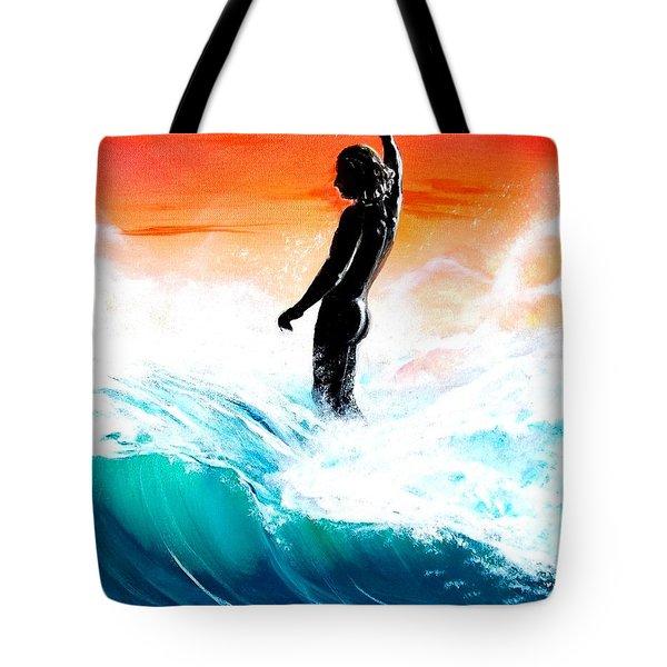 Wave Walk Tote Bag