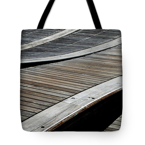 Tote Bag featuring the photograph Wave Walkway  by Lyle Crump