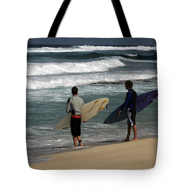 Wave Watch Tote Bag