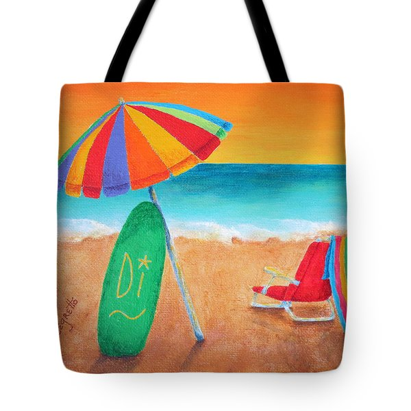 Wave Watch Tote Bag by Pamela Allegretto