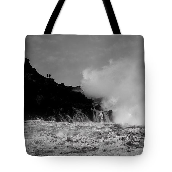Tote Bag featuring the photograph Wave Watching by Roy McPeak