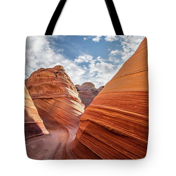 Tote Bag featuring the photograph Wave by Wesley Aston