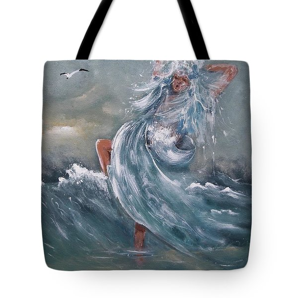 Wave Within Tote Bag