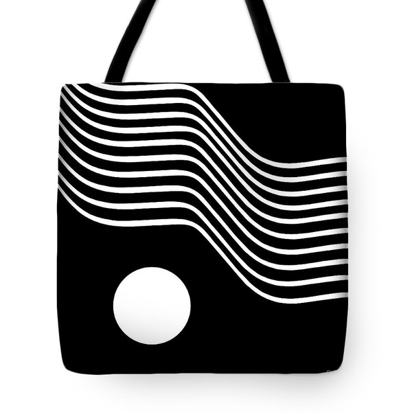 Waved Abstract Tote Bag by Joe Bonita