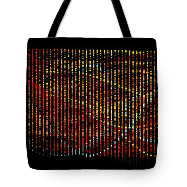 Tote Bag featuring the digital art Abstract Visuals - Wavelengths by Charmaine Zoe