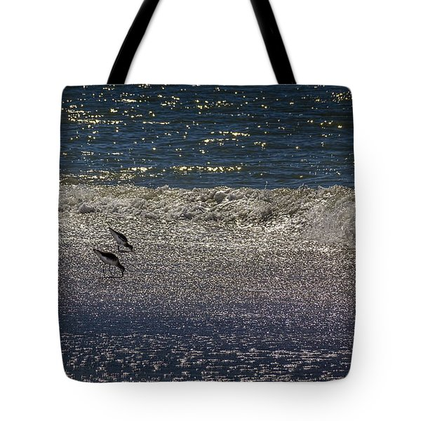Waves And Sparkling Sand Tote Bag