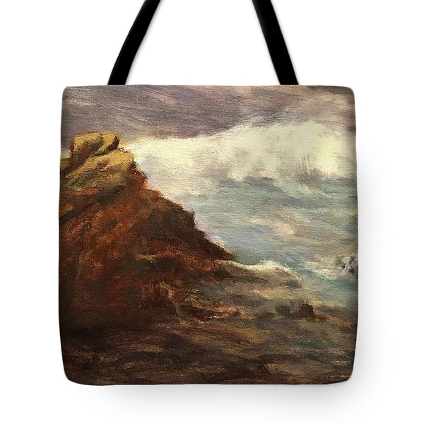 Waves At Dusk Tote Bag