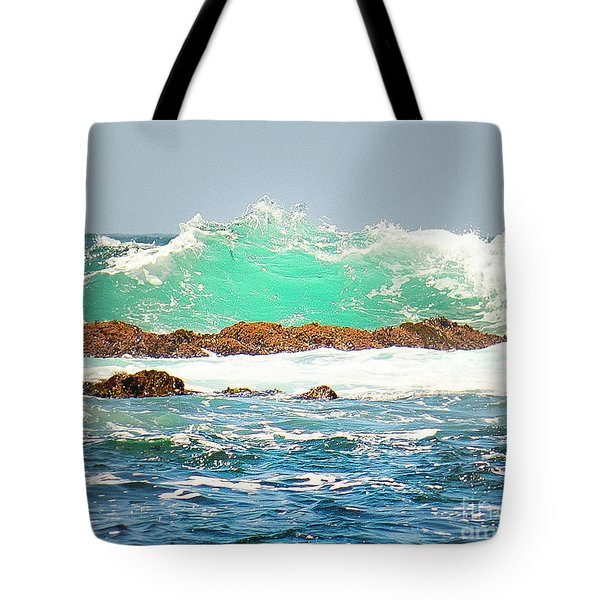 Waves At Pacific Grove California Tote Bag